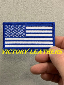 Blue & White American Flag Patch