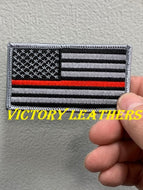 Grey Thin Red Line American Flag Patch