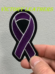 Cancer Awareness Purple Ribbon Patch