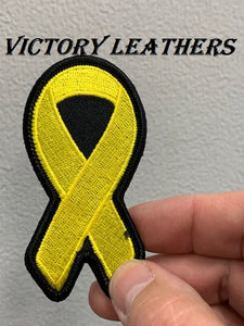 Cancer Awareness Yellow Ribbon Patch