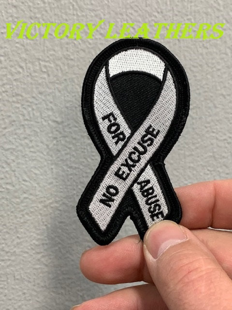 Domestic Violence White Ribbon Patch