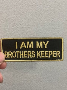 I AM MY BROTHERS KEEPR PATCH ( BLACK & GOLD )