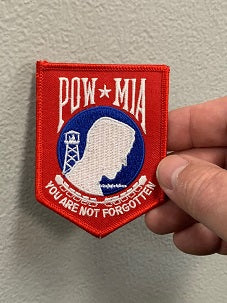 POW-MIA You are not forgotten Patch ( Red White Blue )
