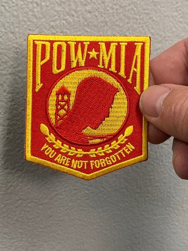 POW-MIA You are not forgotten Patch ( Red & Gold )