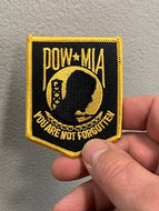 POW-MIA You are not forgotten Patch ( Black & Gold )