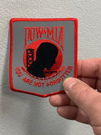 POW-MIA You are not forgotten Patch ( Reflective )