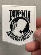 POW-MIA You are not forgotten Patch ( White & Black )