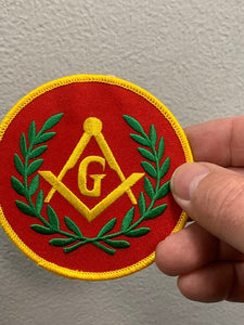 Masonic G Red Patch