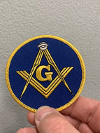 Blue & Gold Masonic Patch