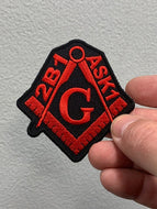 2B1 ASK 1 MASONIC PATCH ( Multi Colors )