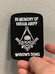 IN MEMORY OF HIRAM ABIFF WIDOWS SONS PATCH