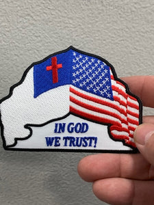 IN GOD WE TRUST FLAG PATCH