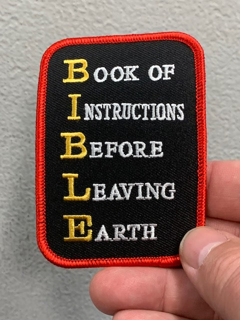 BIBLE BOOK OF INSTRUCTIONS BEFORE LEAVING EARTH PATCH