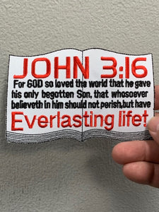 John 3:16 Bible Verse Patch