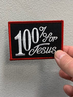 100% for Jesus Patch