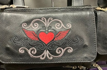 Load image into Gallery viewer, Women's Leather Hip Bag Heart With Wings ( MULTI COLORS )