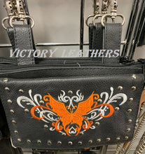 Load image into Gallery viewer, Women's Studded Butterfly Naked Cowhide Leather Belt Bag ( Multi Colors ) BAG35-EBL15