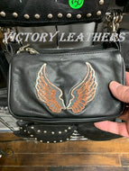 Women's Leather Belt Loop Hip Bag with Wings ( Multi Colors )
