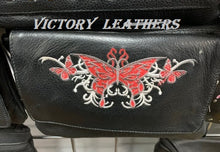 Load image into Gallery viewer, Women's Leather Hip Bag Heart With Butterflys ( MULTI COLORS )