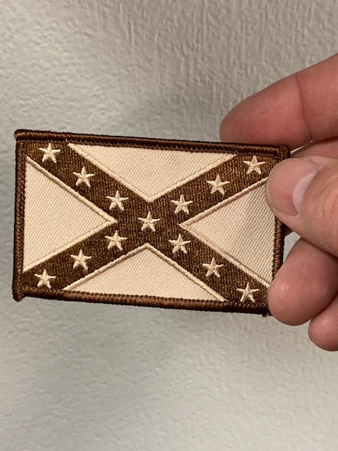 Brown & Tan Confederate Flag Patch