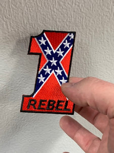 #1 Rebel Flag Patch