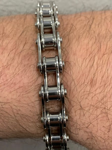 "1/2"" Wide All Stainless Steel Unisex Stainless Steel Motorcycle Chain Bracelet"