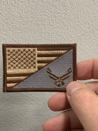 Brown American Flag Air Force Patch