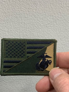 Green United States Flag / Marine Corps Patch