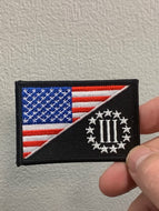 United States Flag / 3 Percent Patch