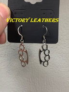 Brass Knuckle earrings USA MADE