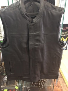 Men's Leather Vest Without Top Pockets Has Collar 6675.00