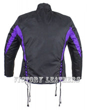 Load image into Gallery viewer, Women's Black & Purple Nylon Riding Jack LJ266