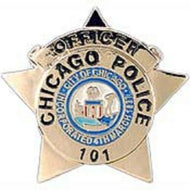 Chicag Police Officer Biker Pin