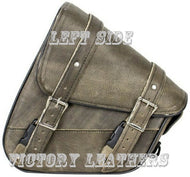 Genuine Distressed Brown Leather Swing Arm Bag ( Left or Right Side )
