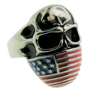 Men's Stainless Steel Flag Ring