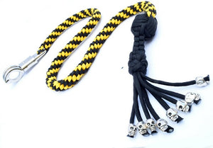 "Black & Yellow Paracord 36"" Get Back Whip"