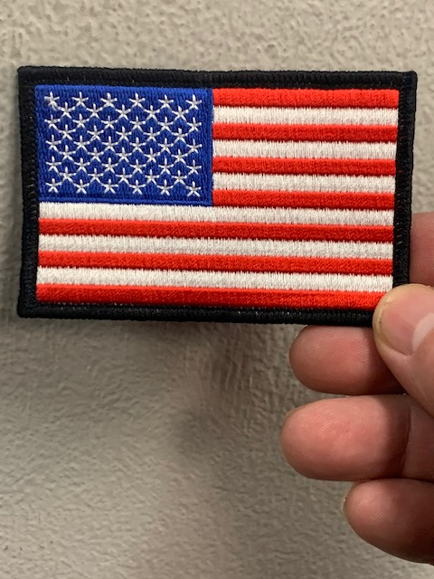 American Flag Patch with Black Boarder 3.5