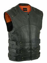 Load image into Gallery viewer, Men's Soft Premium Grade Milled Cowhide Updated SWAT Team Style Vest