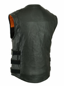Men's Soft Premium Grade Milled Cowhide Updated SWAT Team Style Vest