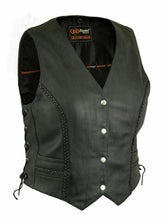 Load image into Gallery viewer, Women's Lightweight Braided Leather Vest DS222