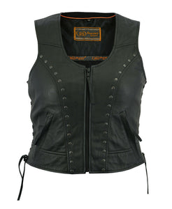 Women's Lightweight Vest with Rivets Detailing DS241