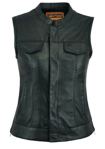 Women's S.O.A Style Leather Vest DS287