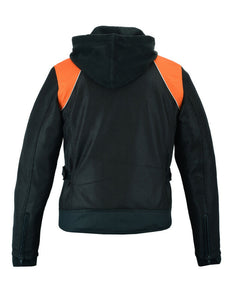 Women's Mesh 3-in-1 Riding Jacket (Black/Orange) DS827