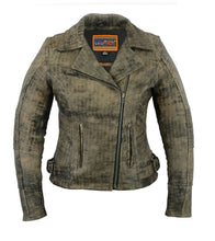 Load image into Gallery viewer, Women's Updated Stylish Antique Brown M/C Jacket DS836