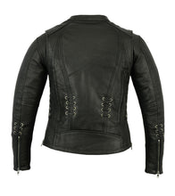 Load image into Gallery viewer, Women's Stylish Jacket with Grommet and Lacing Accents DS885