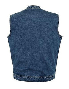 Men's Denim Sons of Anarchy Style Vest DM989 ( With Collar ) Multi Colors