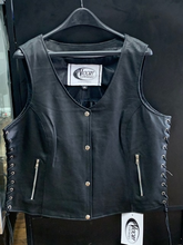 Load image into Gallery viewer, Women's Lightweight Leather Vest 2681.NG