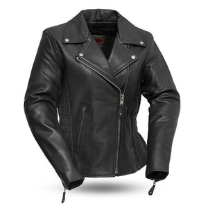Ladies Leather Motorcycle Jacket ( ALLURE ) FIL103MNZ