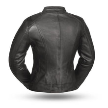 Load image into Gallery viewer, Ladies Leather Motorcycle Jacket ( FASHIONISTA ) FIL108CCBZ