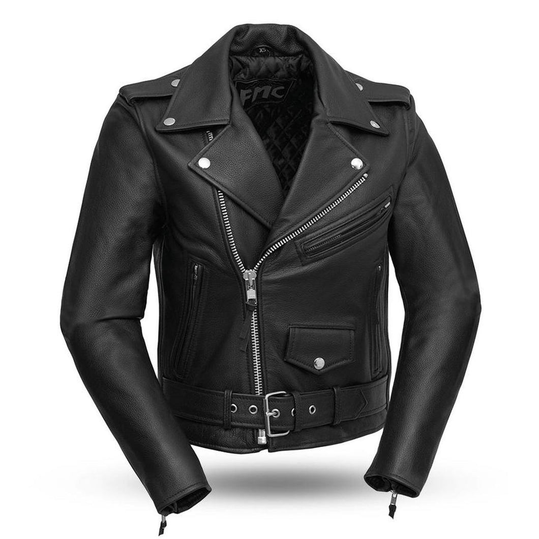 Ladies Leather Motorcycle Jacket ( BIKERLICIOUS ) FML137CRP